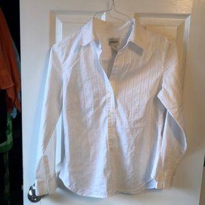 Beautiful white silver stripe Chico shirt